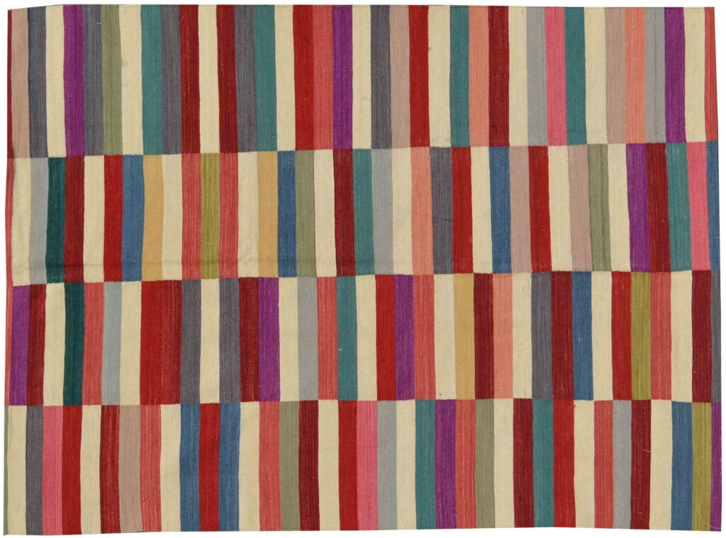 Multicoloured Modern Kilim Rug