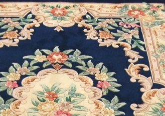 Floral design on chinese rugs.