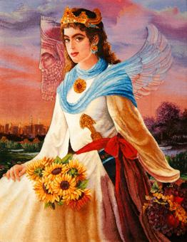 Persian angel Safavid Era Pictorial Rugs