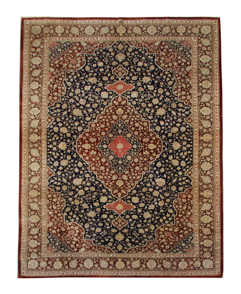 Luxurious silk rug