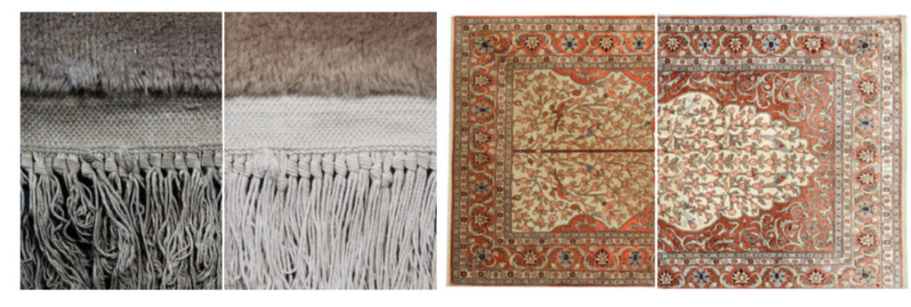 before and after of rug cleaning